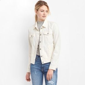GAP | Icon Denim Jacket Chalk White Gap For Good